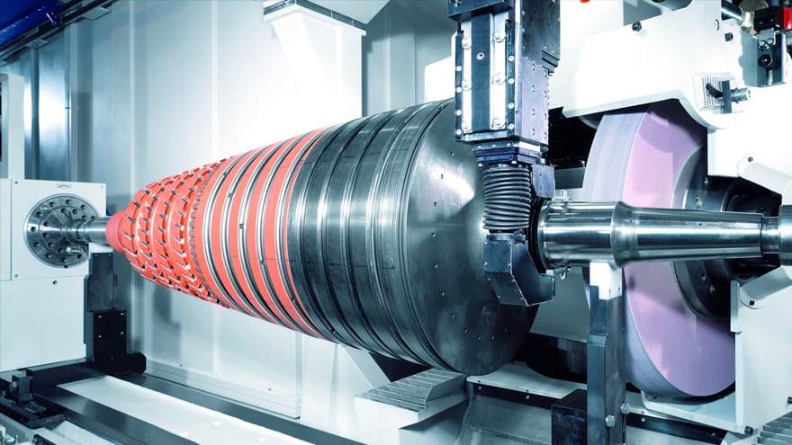 Assembled gas turbine rotors