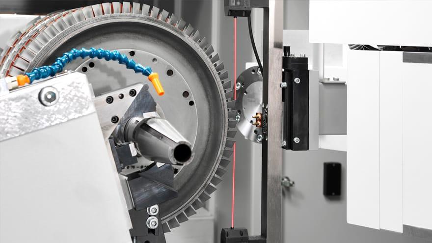 assembled gas turbine rotors 8