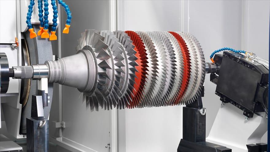 assembled gas turbine rotors 9
