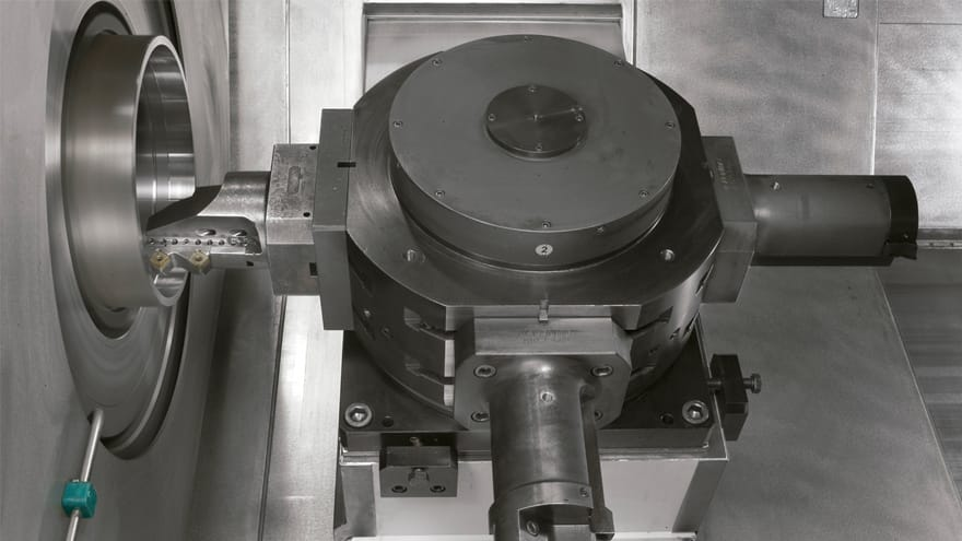 Gas coupling turning machines