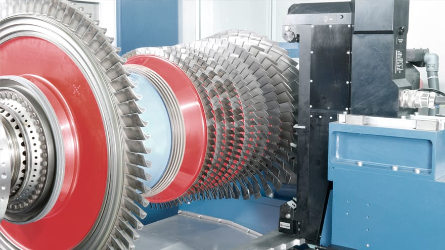 grinding machine for turbine rotors aerospace