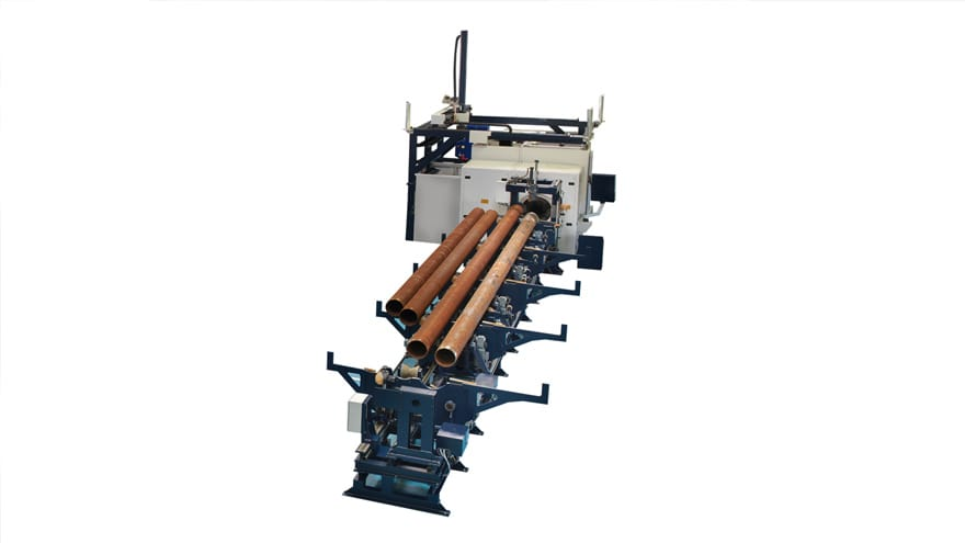 Oil pipes turning machine