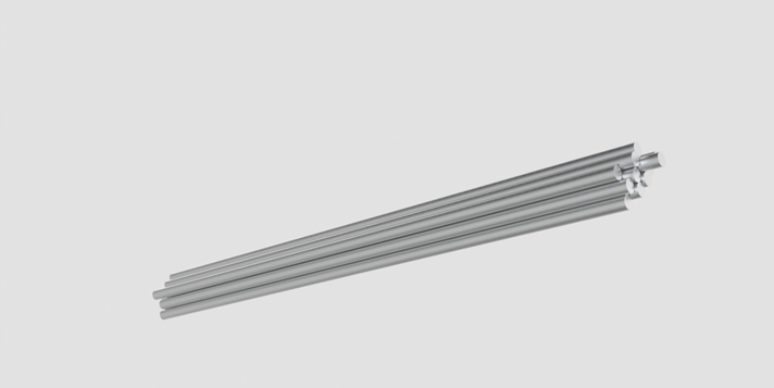 Bars, tubes